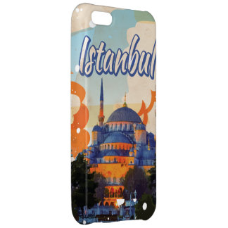 Istanbul Aya Sophia Mosque vintage travel poster iPhone 5C Covers