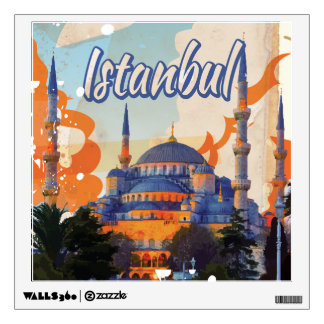 Istanbul Aya Sophia Mosque vintage travel poster Wall Sticker