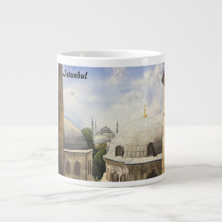 Istanbul: Blue mosque from a window of Hagia Sophi Large Coffee Mug
