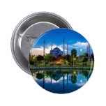 Istanbul Blue Mosque in Turkey 2 Inch Round Button