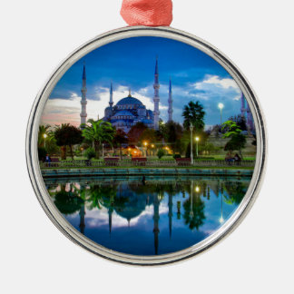 Istanbul Blue Mosque in Turkey Metal Ornament