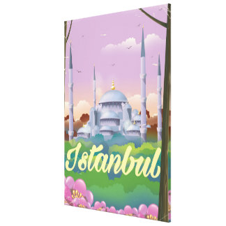Istanbul blue mosque travel poster canvas print