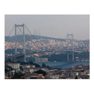 Istanbul bridge postcard