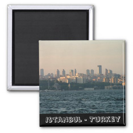 Istanbul, city panorama, Turkey (Fridge Magnet)