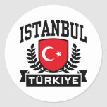 Istanbul Classic Round Sticker