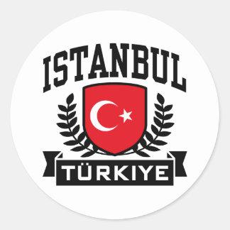 Istanbul Classic Round Sticker