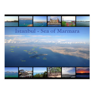 Istanbul - Sea of Marmara with Prince Islands Postcard