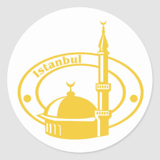 Istanbul Stamp Classic Round Sticker
