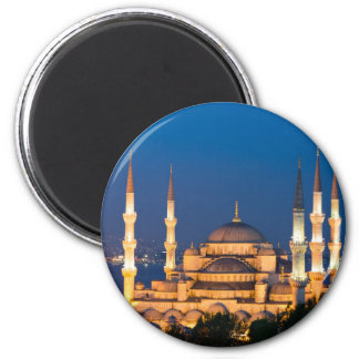 Istanbul - Sultan Ahmed Mosque at night magnet