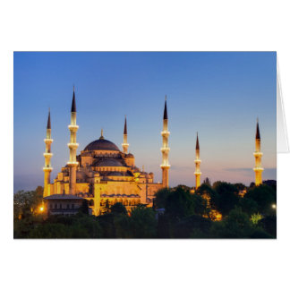 Istanbul - Sultan Ahmed Mosque greeting card
