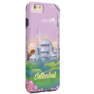 Istanbul Turkey blue mosque travel poster Tough iPhone 6 Plus Case