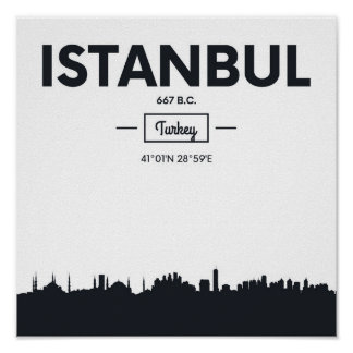 Istanbul, Turkey   City Coordinates Poster