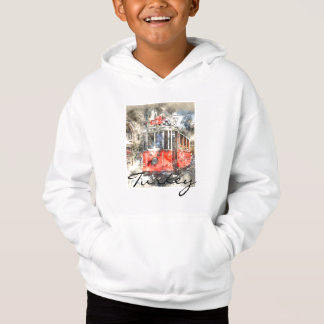 Istanbul Turkey Red Trolley Hoodie