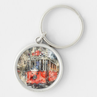 Istanbul Turkey Red Trolley Keychain