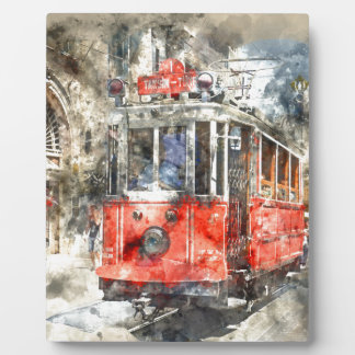Istanbul Turkey Red Trolley Plaque
