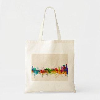 Istanbul Turkey Skyline Tote Bags
