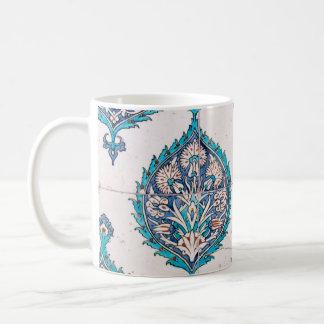 istanbul turkey tile floral mosaic texture coffee mug