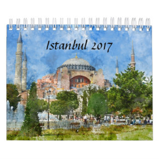 Istanbul Turkey Watercolor 2017 Calendar