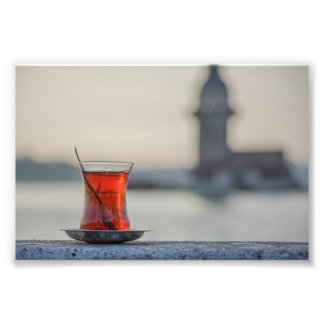 Istanbul - Turkish tea glass photography Photo Print