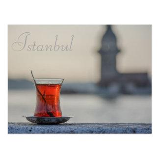 Istanbul - Turkish tea post card