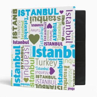 Istanbul turkish typography photo album binder