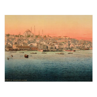 Istanbul  - view from the bridge postcard