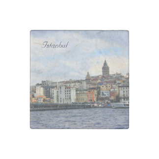 Istanbul View Stone Magnet