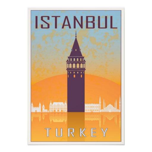 Istanbul vintage poster fotografías