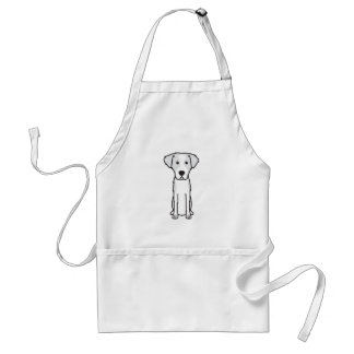 Istrian Wirehaired Hound Dog Cartoon Adult Apron