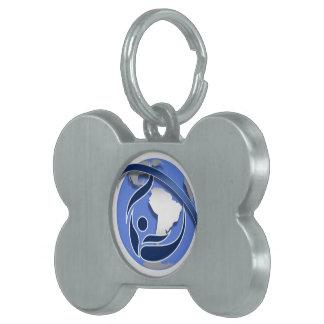 iStunt - colgante del hueso del perrito Placa Mascota