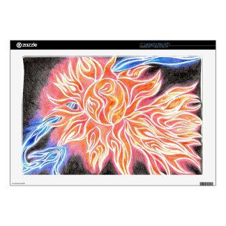 iSun Electric Glowing Sun Rays Abstract Drawing Laptop Skin