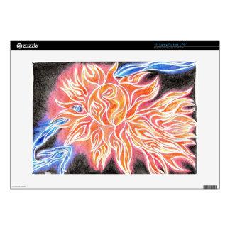 "iSun Electric Glowing Sun Rays Abstract Drawing 15"" Laptop Skins"
