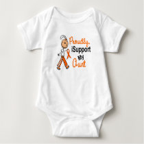 iSupport 1 SFT Leukemia MS Kidney Cancer AUNT Baby Bodysuit