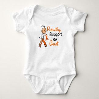 iSupport 1 SFT Leukemia MS Kidney Cancer AUNT T Shirts