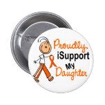iSupport 1 SFT Leukemia MS Kidney Cancer DAUGHTER 2 Inch Round Button