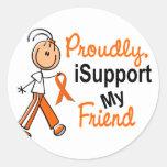iSupport 1 SFT Leukemia MS Kidney Cancer FRIEND Round Stickers