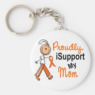 iSupport 1 SFT Leukemia MS Kidney Cancer MOM Basic Round Button Keychain
