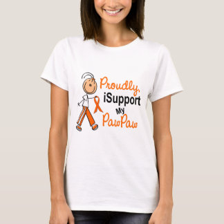 iSupport 1 SFT Leukemia MS Kidney Cancer PAW PAW T-Shirt