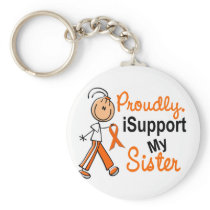 iSupport 1 SFT Leukemia MS Kidney Cancer SISTER Keychain