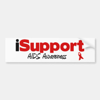 iSupport AIDS Car Bumper Sticker