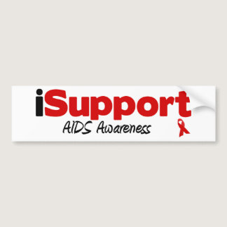 iSupport AIDS Bumper Sticker