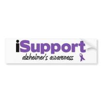 iSupport Alzheimers Bumper Sticker