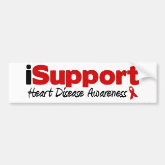 iSupport Heart Disease Car Bumper Sticker
