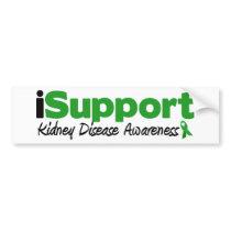 iSupport Kidney Disease Bumper Sticker