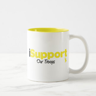 iSupport Our Troops Two-Tone Coffee Mug