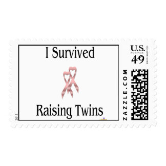 ISurvivedRaisingTwinsGirlGirl Postage Stamp