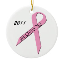 iSurvivor Breast Cancer Survivor Ornament