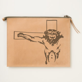 Isus crucified on the cross travel pouch