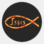 Isus Jesus Fish Sticker