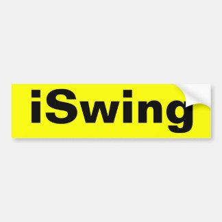 iSwing Bumper Sticker